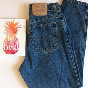 Paper tag vintage Levi's 550 Relaxed tapered jeans