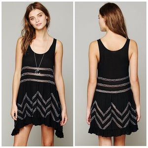 Free People Voile Lace Trapeze Slip Dress XS E1