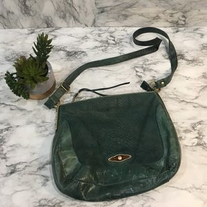 Elliot Lucca green leather crossbody bag