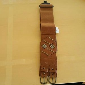 Accessories - Brown belt with double buckle