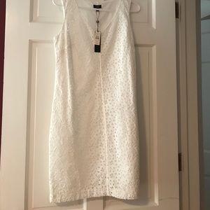 Talbot's white dress