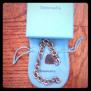 Authentic Tiffany & Co. Heart Tag Link Bracelet