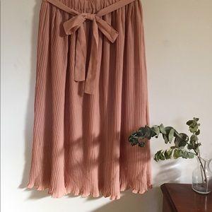 Pleated Midi Anthropologie Skirt