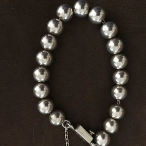 Sterling silver Silpada 10mm ball bead bracelet