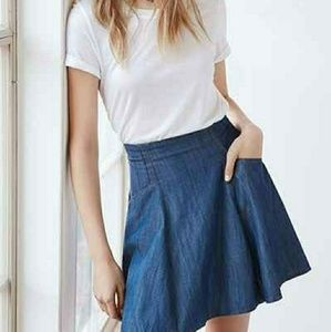 Urban Outfitters Denim Skater Skirt