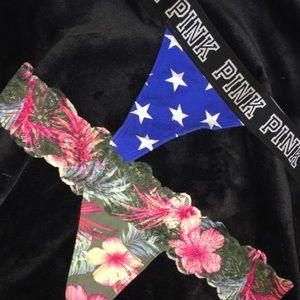 VS pink tong panties