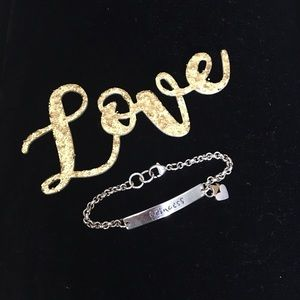 "Sterling Silver ""Princess"" ID Bracelet"