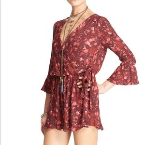 """Floral Foliage""Romper. By Free People Romper"
