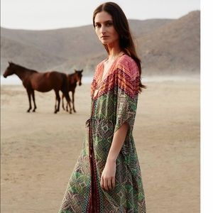 Anthropologie Dress Caftan Maxi New Size Large