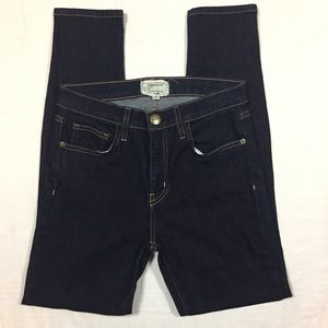 Current/Elliott high waist dark rinse skinny jeans