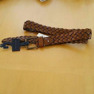 Tommy Hilfiger brown genuine leather belt