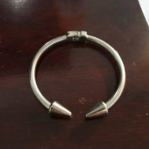 Silver spike bracelet