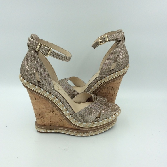 9562b096d2 Jessica Simpson Shoes | Ahnika Womens Gliter Wedge Sandal | Poshmark