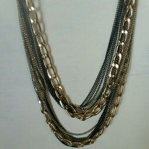18 chain multi-patina necklace New without tags