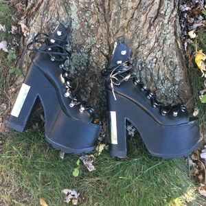 c81bfa206db6 YRU Shoes - Yru heavy metal ballet bae platforms