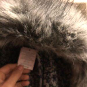 LL Bean faux fur scarfs