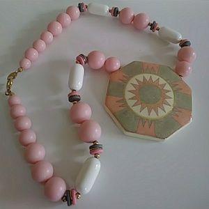 Vintage pink necklace