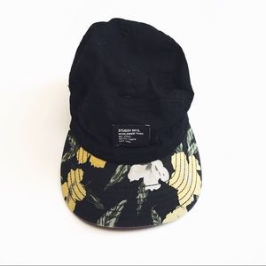 Stussy cap with flower power