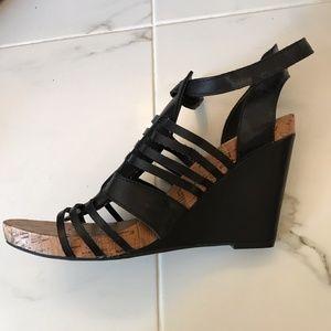 BCBGeneration black wedge sandal - size 9