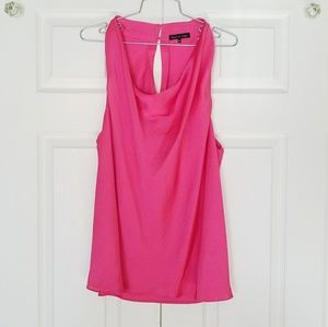 Bright Pink Flowy Blouse Sleeveless