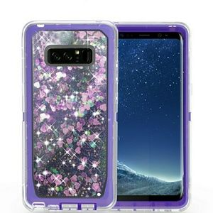Samsung Note 8 Star Dust Liquid Amor Case W/EXTRAS