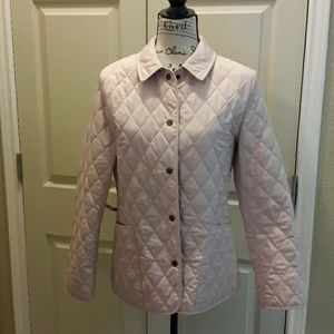 Authentic Burberry light pink quilted jacket Sz S