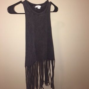 Fringed Muscle Tank