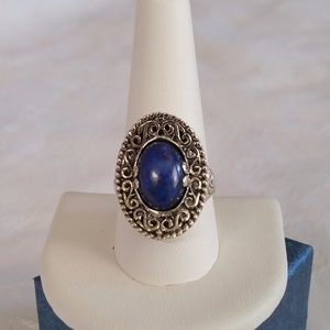 Jewelry - Lapis Lazuli Sterling Silver Ring (Size 10.0)