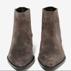 Shoes - Suede Booties Ankle Boots