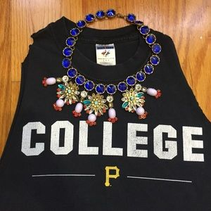 """College"" Pittsburgh College muscle tank small"