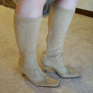 Sam & Libby tall boots in camel color