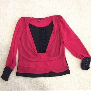 Tops - ⚡️final price⚡️Dressy red and black blouse