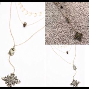 New Free People stardust layer necklace