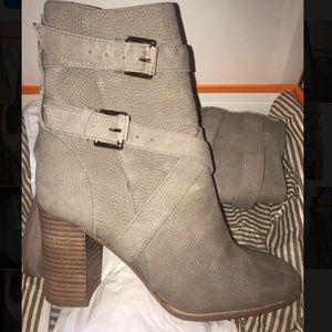Kate Spade Lexy boot 6.5 slate grey buckle