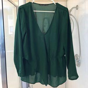 Flowy v neck blouse