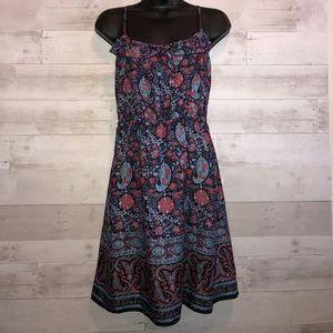 American eagle paisley print halter dress
