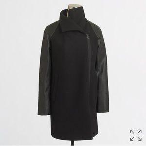 J. Crew Vegan Leather Sleeve Envelope Coat NWT!