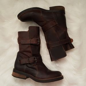 Steve Madden Caveat brown motorcycle boots