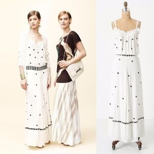 Anthropologie Leifnotes Mirror Dotted Maxi Dress