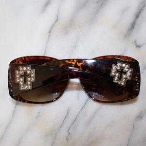 8030296962d Solaray Accessories - FREE W  25+PURCHASE! Cross   Rhinestone Sunglasses
