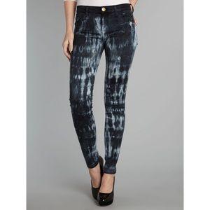 {Current/Elliott} The Ankle Skinny Tie Dye Jeans