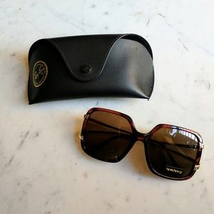 Brand new Spitfire Sunglasses with Ray-Ban Case