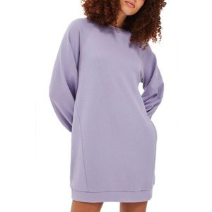 NWT TopShop lilac sweatshirt dress