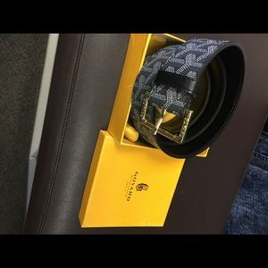 Goyard belt & pouch