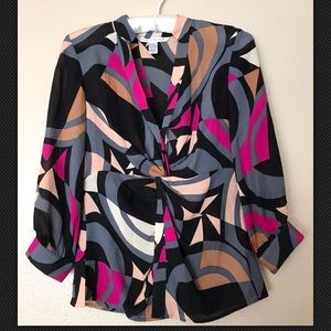 Diane von Furstenberg Silk Blouse Womens Top