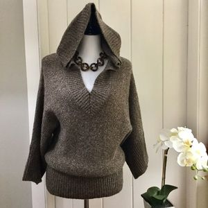 KENJI ANTHRO Brown Flecked Hoodie Sweater