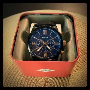 Men's Fossil Flynn Leather Strap Watch