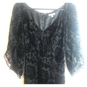 Anthropologie Shoshanna Dress Black Velvet Size 6