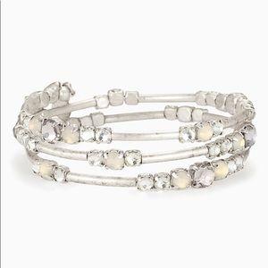 Stella and Dot Isabella wrap bracelet - silver