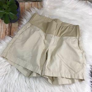 Loft maternity cream shorts